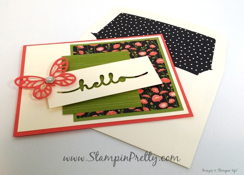 stampin up bold butterfly framelits dies butterflies mary fish stampin pretty envelope liner