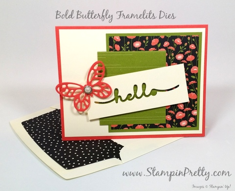 stampin up bold butterfly framelits dies butterflies mary fish stampin pretty pinterest