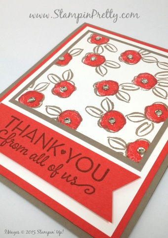 stampin up garden in bloom thank you card mary fish stampin pretty stamping