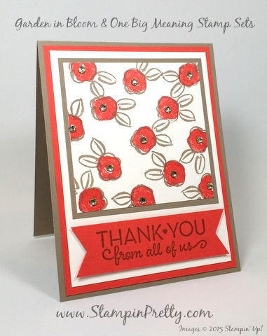 stampin up garden in bloom thank you card mary fish stampin pretty