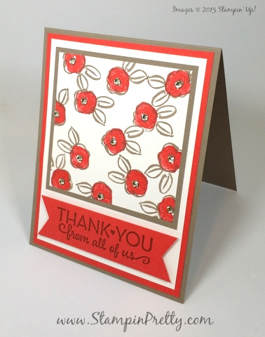 stampin up garden in bloom thank you cards mary fish stampin pretty