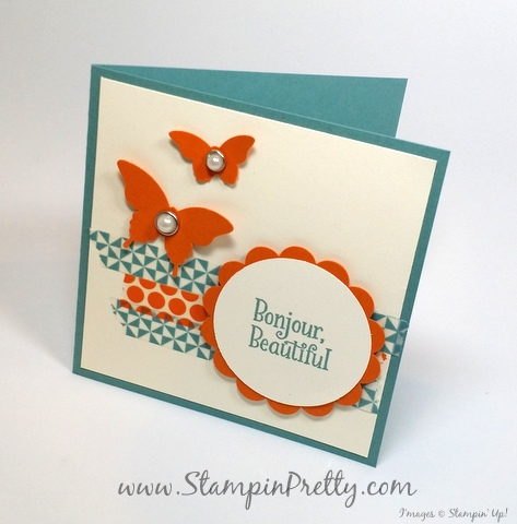 stampin up happy happenings mary fish stampin pretty demonstrator blog butterfly punch
