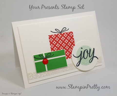 Deck the Halls Holiday Tree Lights Card #2: stampin up holiday christmas card ideas your presents mary fish stampin pretty demonstrator blog pinterest