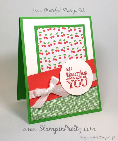 stampin up me = grateful mary fish stampin pretty demonstrator blog  card