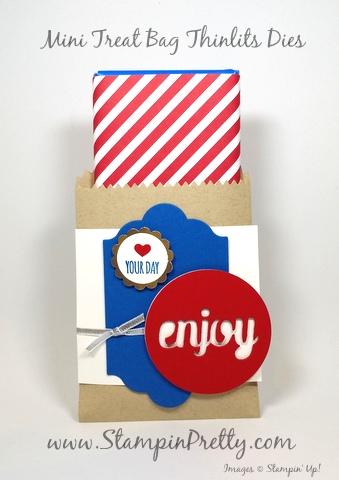 stampin up mini treat bag thinlits dies mary fish stampin pretty demonstrator blog candy bar