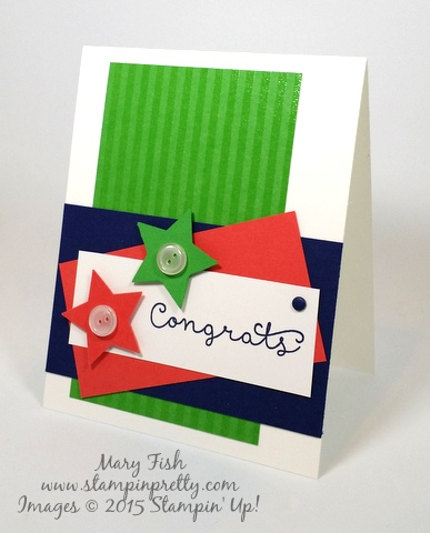 Stampin' Up! Cottage Greetings congrats congratulations card idea by Mary Fish Stampinup Demonstrator blog right