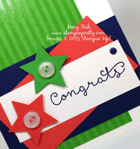 Stampin' Up! Cottage Greetings congrats congratulations card idea by Mary Fish Stampinup Demonstrator blog