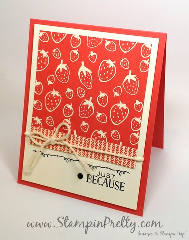 stampin up sweet li'l things tin of cards mary fish stampin pretty blog pinterest just because