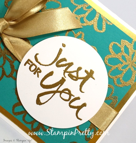 stampin up watercolor words thank you card idea mary fish stampin pretty blog circle punch