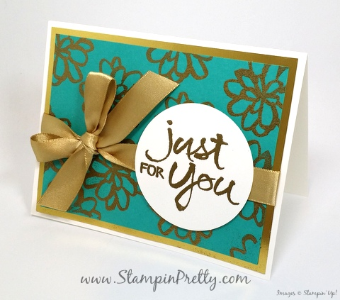 stampin up watercolor words thank you card idea mary fish stampin pretty blog gold emboss