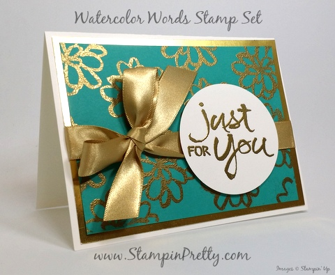 stampin up watercolor words thank you card idea mary fish stampin pretty blog pinterest