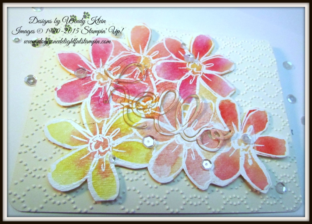 Stampin 39 up garden in bloom by wendy klein stampin 39 pretty for Mary fish stampin up