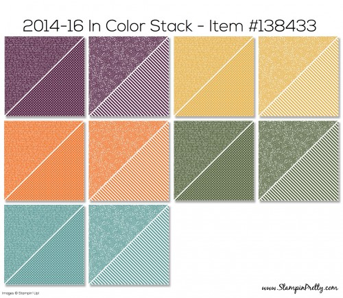 Stampin Up 2014-16 Designer Series Paper Stack