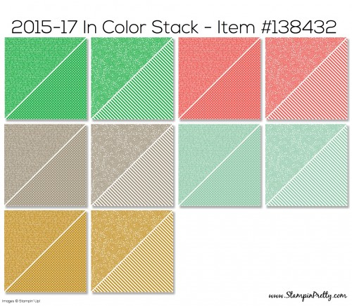 Stampin Up 2015-17 Designer Series Paper Stack