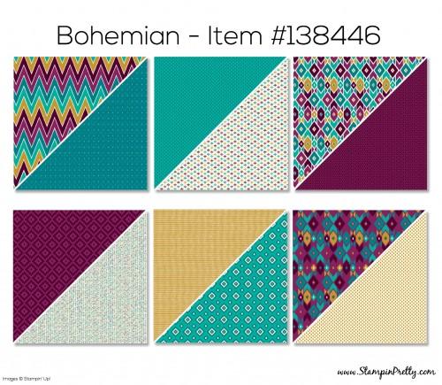 Stampin Up Bohemian Designer Series Paper
