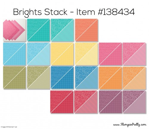 Stampin Up Brights Stack Designer Series Paper