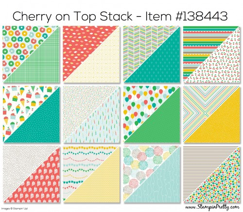 Stampin Up Cherry on Top Stack Designer Series Paper