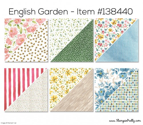 Stampin Up English Garden Designer Series Paper