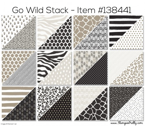 Stampin Up Go Wild Stack Designer Series Paper