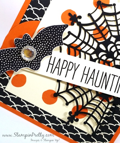 Stampin Up Halloween Card Ideas StampinUp Cheer All Year Mary Fish Stampin Pretty Demonstrator Blog Bat