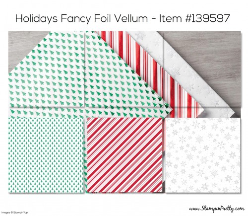 Stampin Up Holidays Fancy Foil Designer Vellum