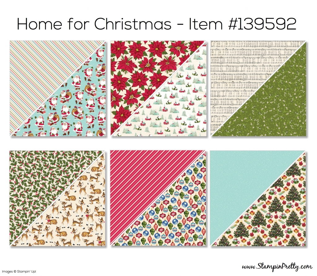 stampin up home for christmas designer series paper - Christmas Holiday 2015