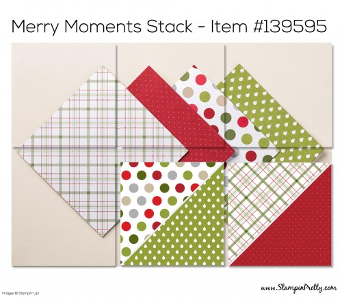 Stampin Up Merry Moments Designer Series Paper Stack