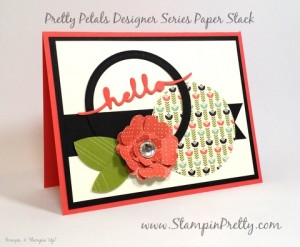 Stampin Up Mojo Monday hello friend card ideas Mary Fish Stampin Pretty StampinUp Pinterest