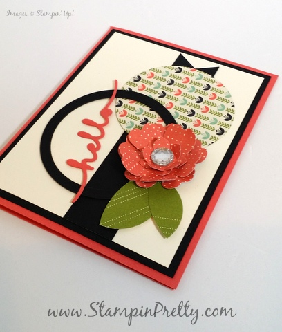 Stampin Up Mojo Monday hello friend card ideas Mary Fish Stampin Pretty StampinUp demonstrator blog