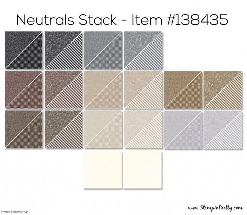Stampin Up Neutrals Stack Designer Series Paper