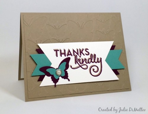 Stampin Up One Big Meaning Fluttering Textured Impressions Embossing Folder