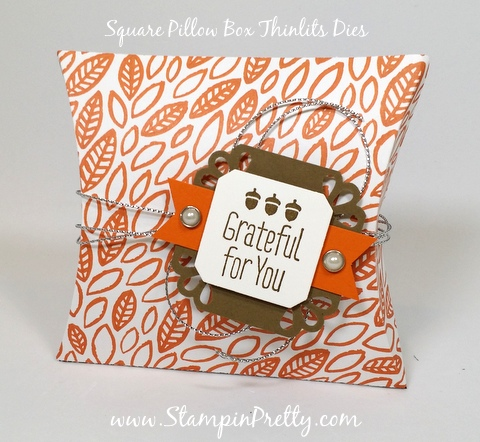 Stampin Up Pillow Box Thinlits Dies Mary Fish Stampin Pretty StampinUp Demonstrator Blog Pinterest