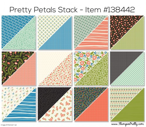 Stampin Up Pretty Petals Designer Series Paper Stack