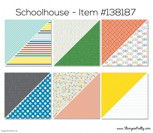 Stampin Up Schoolhouse Designer Series Paper