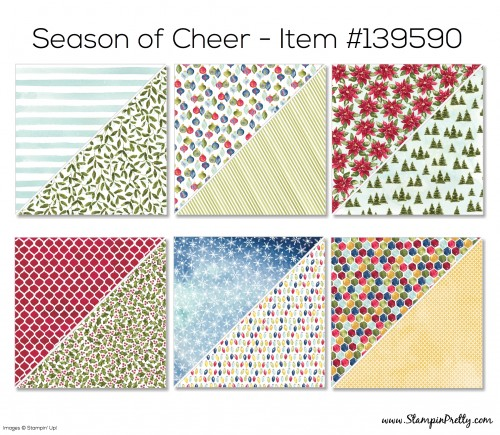 Stampin Up Season of Cheer Designer Series Paper