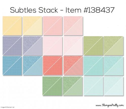 Stampin Up Subtles Stack Designer Series Paper