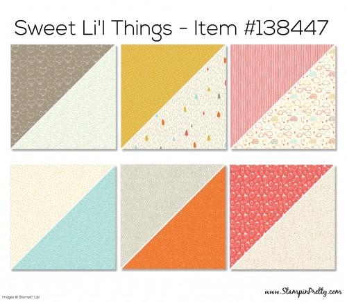 Stampin Up Sweet Li'l Things Designer Series Paper