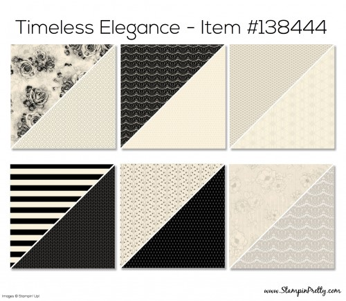 Stampin Up Timeless Elegance Designer Series Paper
