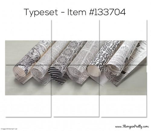 Stampin Up Typeset Designer Series Paper