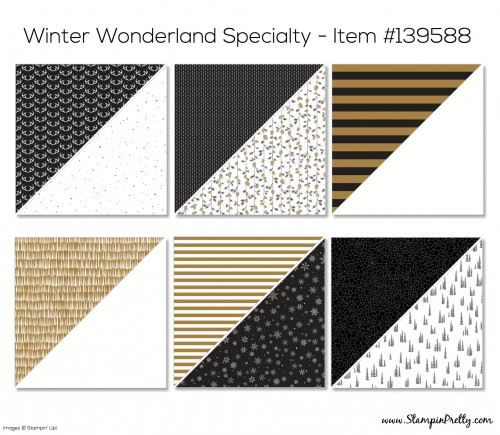 Stampin Up Winter Wonderland Specialty Designer Series Paper