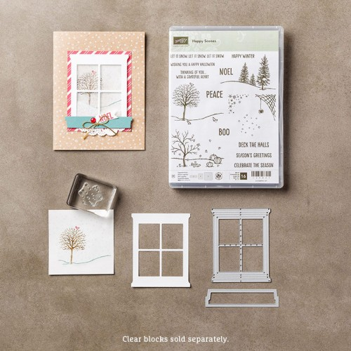 happy scenes hearth home thinlits dies stampinup