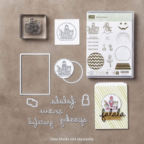 sparkly seasons seasonal frame thinlits dies stampin up