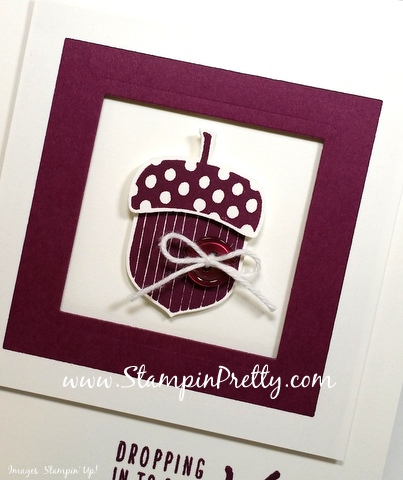 stampin up acorny thank you card acorn builder punch mary fish stampin pretty demonstrator blog button