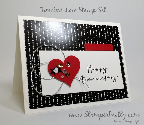 stampin up anniversary card timeless love mary fish stampin pretty demonstrator blog pinterest