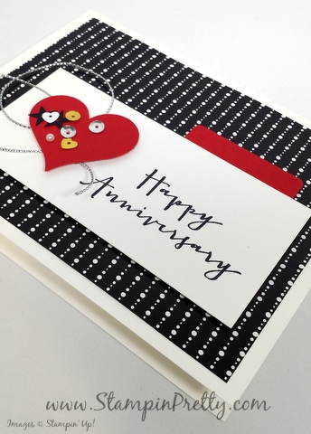 stampin up anniversary card timeless love mary fish stampin pretty demonstrator blog sweetheart punch