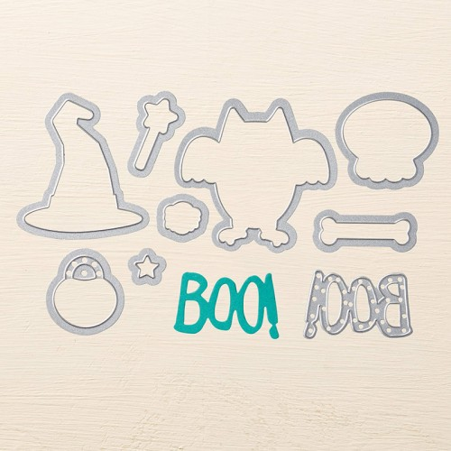 stampin up boo to you framelits dies halloween card idea