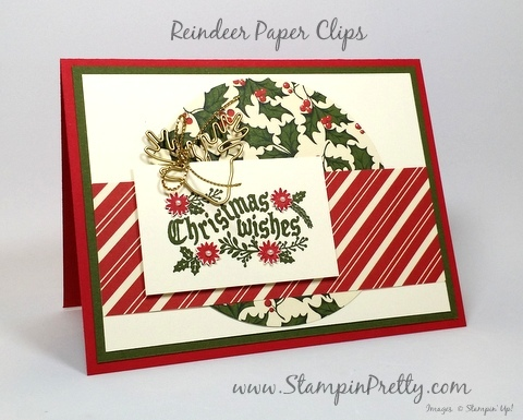 Reindeer Christmas Cards To Make.Check Out These Reindeer Paper Clips Stampin Pretty