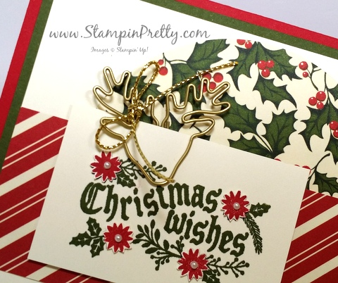 stampin up cozy christmas holiday card ideas mary fish stampin pretty demonstrator blog reindeer paper clip