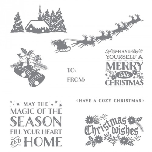 stampin up cozy christmas stamp set