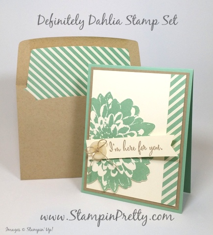 stampin up definitely dahlia sympathy card mary fish stamping pretty blog pinterest